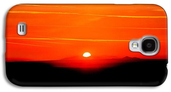 Blood Red Sunset Galaxy S4 Case by Az Jackson