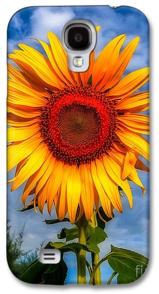 Blooming Sunflower  Galaxy S4 Case by Adrian Evans