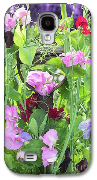 Blooming Sweet Peas Galaxy S4 Case by Tim Gainey