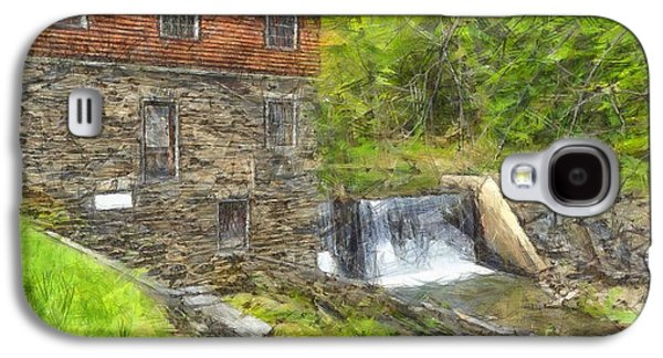 Blow Me Down Mill Cornish New Hampshire Pencil Galaxy S4 Case by Edward Fielding