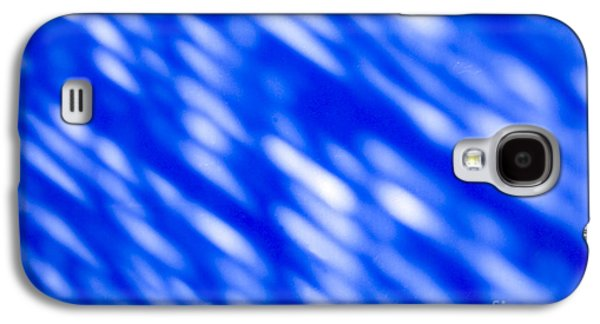 Blue Abstract 1 Galaxy S4 Case by Tony Cordoza