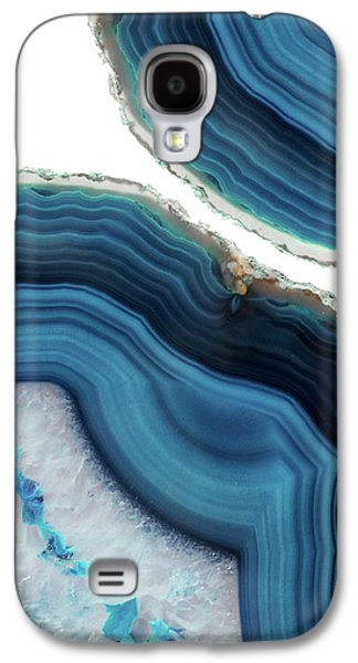 Blue Agate Galaxy S4 Case by Emanuela Carratoni
