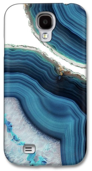 Blue Agate Galaxy S4 Case by Emanuela Carratoni