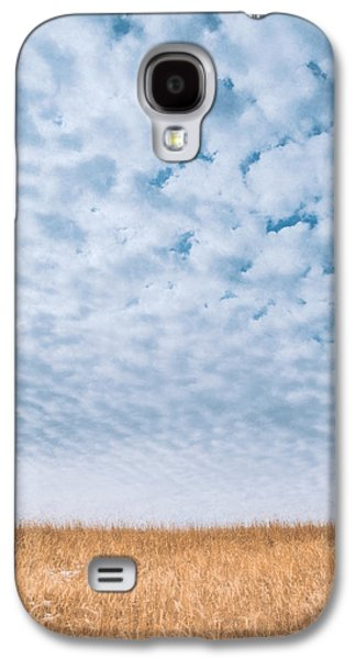 Minimalist Galaxy S4 Case - Blue And Amber by Scott Norris