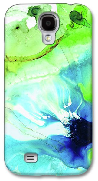 Blue And Green Abstract - Land And Sea - Sharon Cummings Galaxy S4 Case by Sharon Cummings