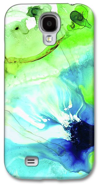 Blue And Green Abstract - Land And Sea - Sharon Cummings Galaxy S4 Case