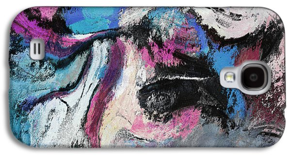 Blue And Pink Abstract Painting Galaxy S4 Case by Ayse Deniz