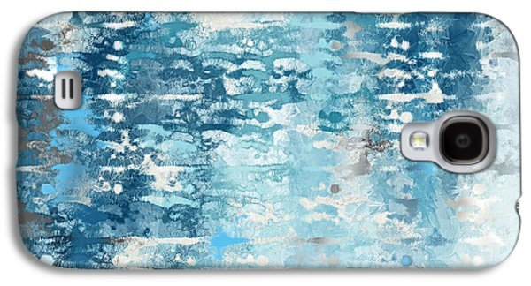 Blue And White Abstract Galaxy S4 Case