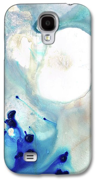 Blue And White Art - A Short Wave - Sharon Cummings Galaxy S4 Case by Sharon Cummings