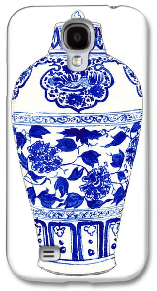Blue And White Ginger Jar Chinoiserie Jar 1 Galaxy S4 Case