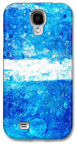 Blue And White Modern Art - Two Pools 2 - Sharon Cummings Galaxy S4 Case