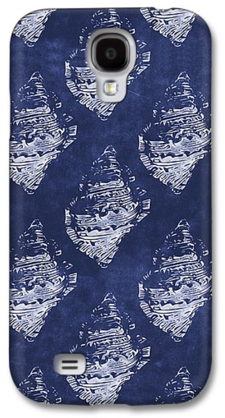 Blue And White Seashells 1- Art By Linda Woods Galaxy S4 Case