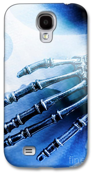Blue Android Hand Galaxy S4 Case