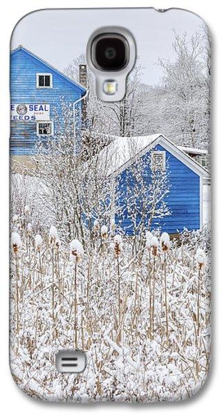 Blue Barns Portrait Galaxy S4 Case by Bill Wakeley
