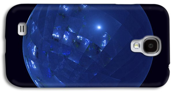 Blue Big Sphere With Squares Galaxy S4 Case