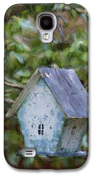 Blue Birdhouse Painterly Effect Galaxy S4 Case