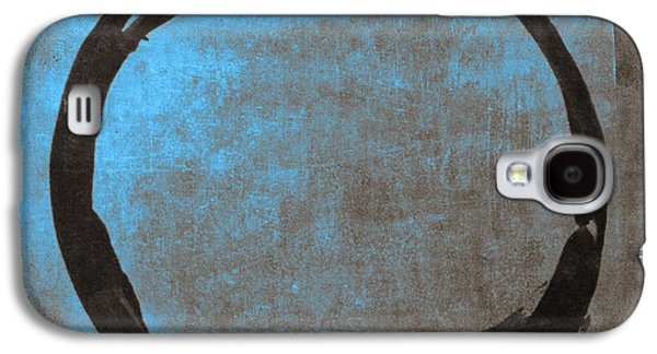 Blue Brown Enso Galaxy S4 Case by Julie Niemela
