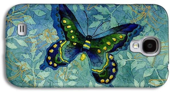 Blue Butterfly Galaxy S4 Case by Hailey E Herrera
