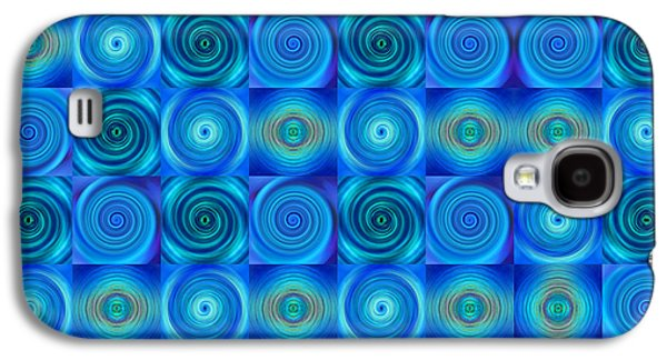Blue Circles Abstract Art By Sharon Cummings Galaxy S4 Case