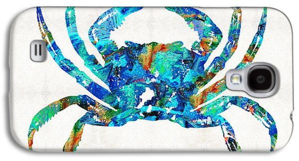 Blue Crab Art By Sharon Cummings Galaxy S4 Case by Sharon Cummings