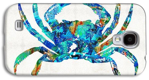 Blue Crab Art By Sharon Cummings Galaxy S4 Case by Sharon Cummings