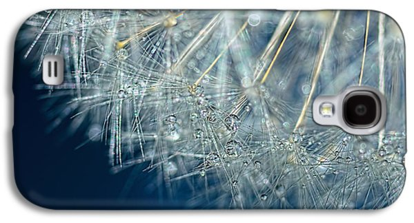 Blue Dandelion Dew By Kaye Menner Galaxy S4 Case by Kaye Menner