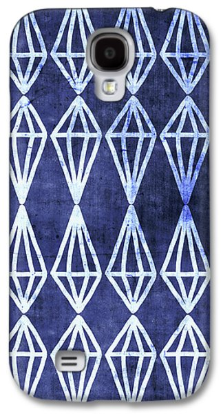 Blue Diamond Stripe- Art By Linda Woods Galaxy S4 Case
