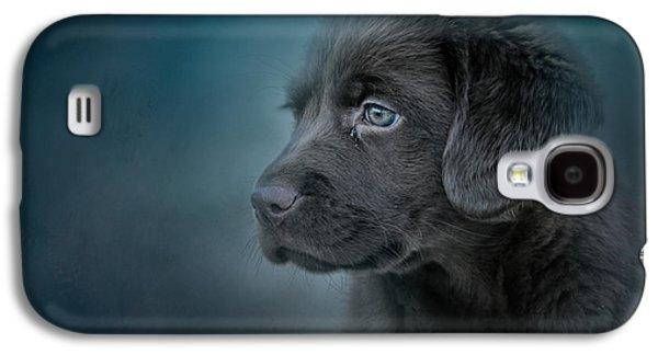 Blue Eyed Puppy Galaxy S4 Case by Jai Johnson