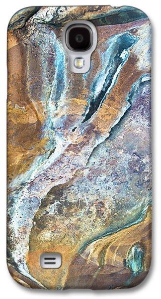 Galaxy S4 Case featuring the photograph Blue Fantasy, Bhimbetka, 2016 by Hitendra SINKAR