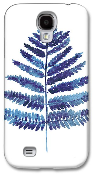 Blue Ferns Watercolor Art Print Painting Galaxy S4 Case by Joanna Szmerdt