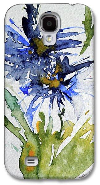Blue Flowers Galaxy S4 Case by Kovacs Anna Brigitta