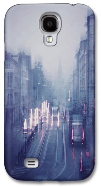 Blue Fog Over Rainy City Galaxy S4 Case by Jenny Rainbow