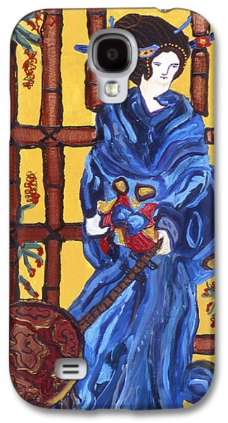 Blue Geisha Galaxy S4 Case by Lorin Zerah