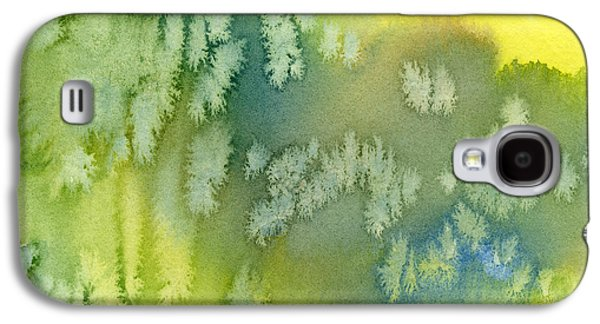 Blue Green And Yellow Abstract Watercolor Design 1 Galaxy S4 Case by Sharon Freeman