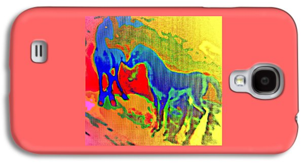 Blue Horses Having A Date  Galaxy S4 Case