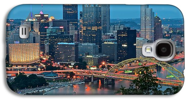Blue Hour In Pittsburgh Galaxy S4 Case