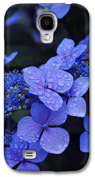 Blue Hydrangea Galaxy S4 Case by Noah Cole
