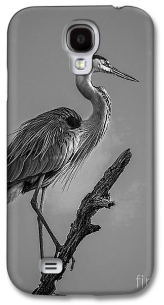 Blue In Black-bw Galaxy S4 Case by Marvin Spates