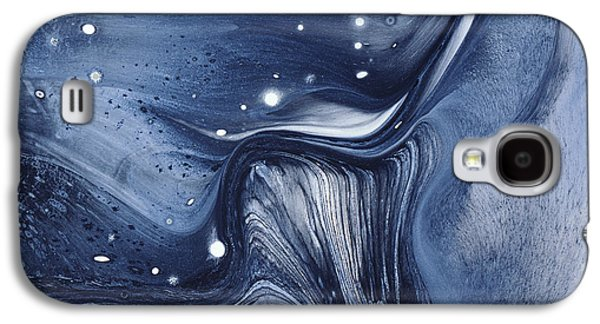 Marbling - Blue Liquid Galaxy S4 Case by BONB Creative