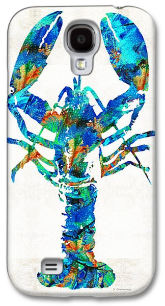 Blue Lobster Art By Sharon Cummings Galaxy S4 Case by Sharon Cummings