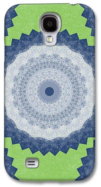 Blue Mandala- Art By Linda Woods Galaxy S4 Case by Linda Woods