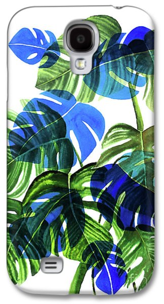 Blue Monstera Galaxy S4 Case by Ana Martinez