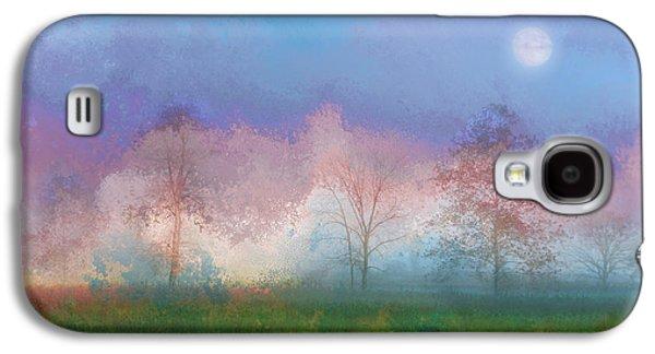 Landscape Digital Art Galaxy S4 Cases - Blue Moon Galaxy S4 Case by Ron Jones