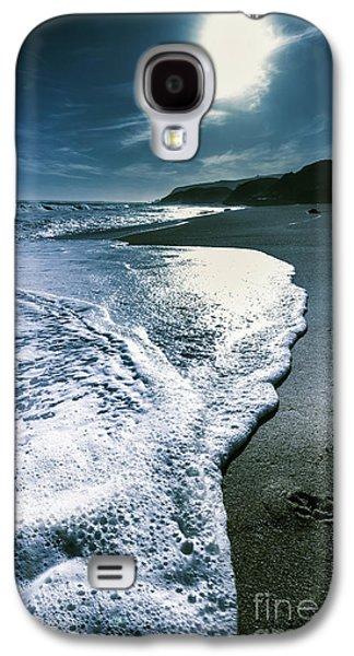 Blue Moonlight Beach Landscape Galaxy S4 Case