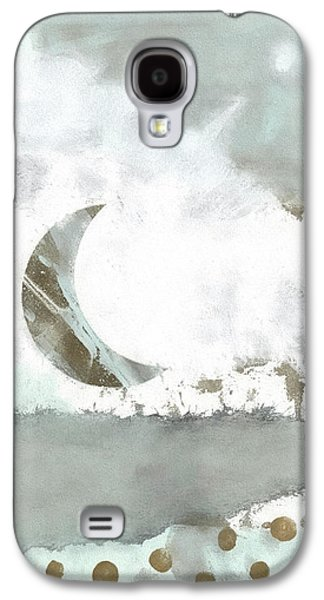 Blue Moonset Monoprint Collage Galaxy S4 Case by Carol Leigh