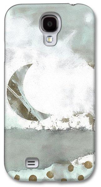 Blue Moonset Monoprint Collage Galaxy S4 Case