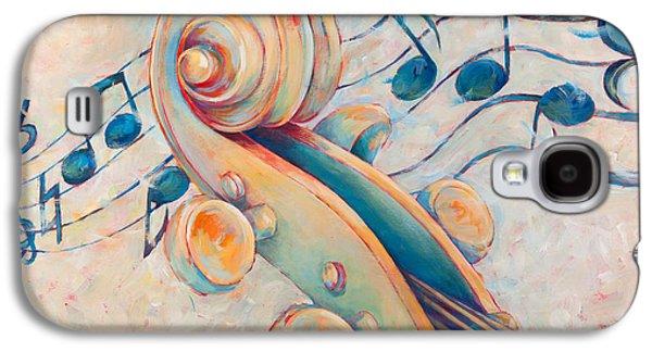 Violin Galaxy S4 Case - Blue Notes by Susanne Clark