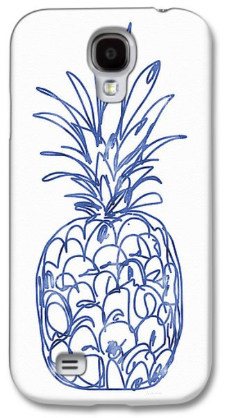 Blue Pineapple- Art By Linda Woods Galaxy S4 Case