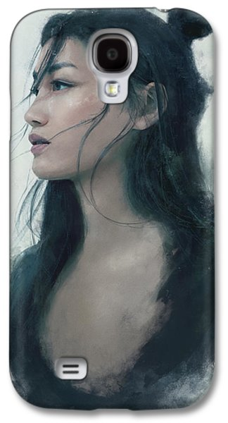 Blue Portrait Galaxy S4 Case by Eve Ventrue