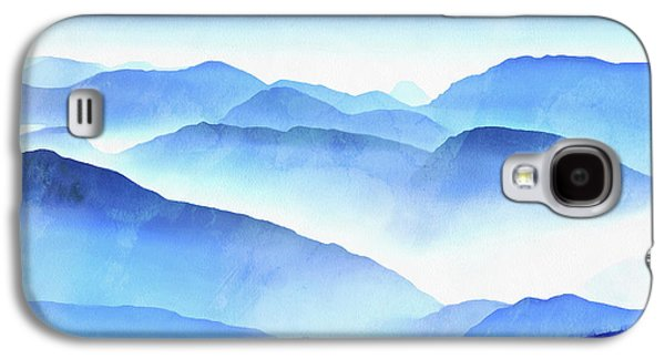 Blue Galaxy S4 Case - Blue Ridge Mountains by Edward Fielding